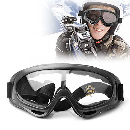 Radsportbrille Motorradbrille, Aodoor Motocross Wind Staubschutz Sportbrille Motorrad Goggle Motocross Wind Staubschutz Polarisierte Skibrille für Sport und Freizeit Color Schwarz