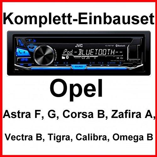 Komplett-Set Opel Astra F G Corsa B Zafira A JVC KD-R871BT Autoradio Bluetooth