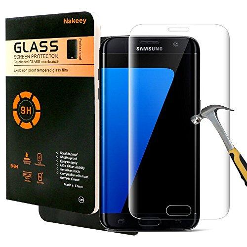 Galaxy S7 Edge Schutzfolie,Nakeey Samsung Galaxy S7 Edge Gehärtetem Glas Schutzfolie Panzerglas Hartglas Screen Protector Schutzglas für Samsung Galaxy S7 Edge