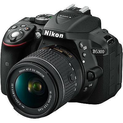 NIKON D 5300 Kit Spiegelreflexkamera, 24.2 Megapixel, CMOS Sensor, Externer Blit