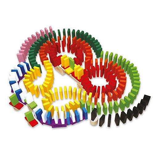 Domino-Spiel für die ganze Familie, mehr als 560 Teile, mit Hindernissen für mehr Spielspaß, inkl. kleinem Stoffbeutel