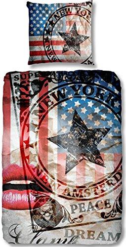 Aminata Coole Teenager Bettwäsche Usa Flagge 135x200 Cm