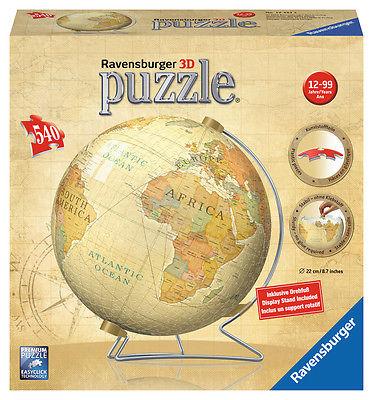 Ravensburger 12434 - Vintage Globus, 540 Teile 3D Puzzle-Ball