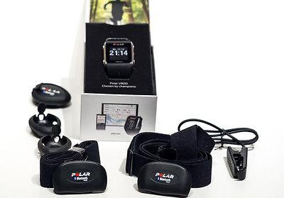 Polar V800 GPS-Pulsuhr Bluetooth schwarz inkl. 2 x Brustg.+ 2 x H7 Sensoren Top!