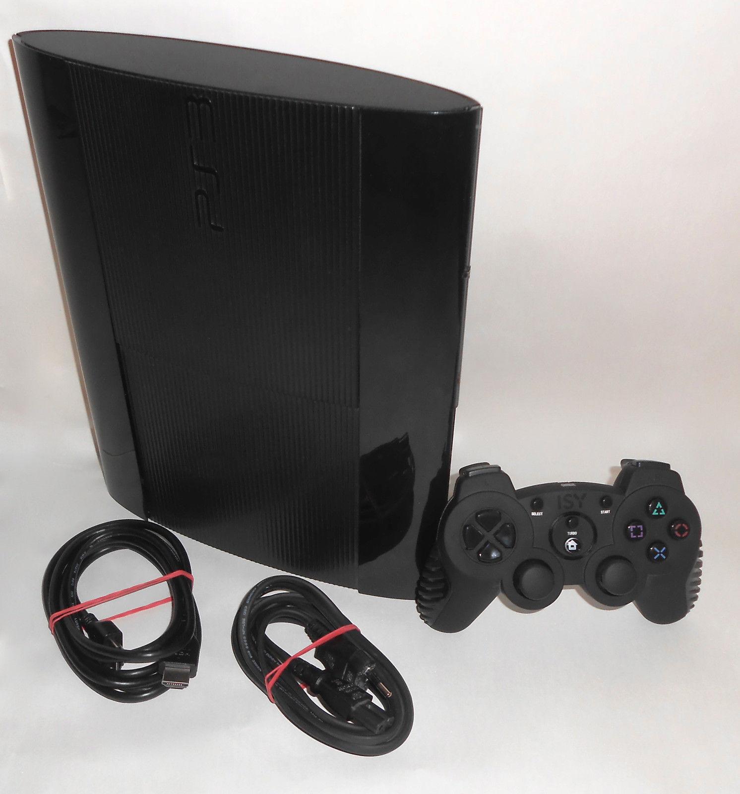 Sony Playstation 3 PS3 Super Slim Konsole 500 GB Spielkonsole + Controller