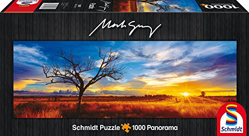 Schmidt Spiele 59287 - Mark Gray, Panoramapuzzle, Desert Oak at Sunset, Northern Territory, Australia, 1000 Teile