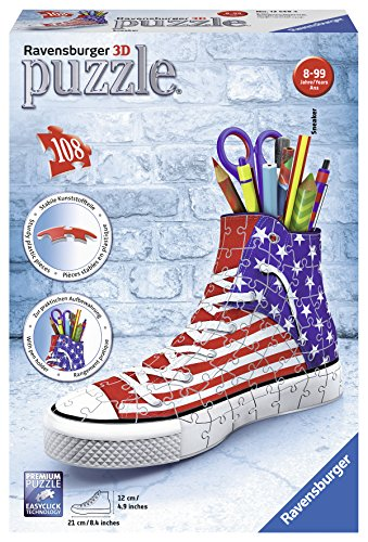 Ravensburger 3D-Puzzle 12549 - Sneaker American Style, 108-teilig