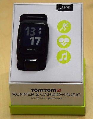 TomTom Runner 2 Cardio Music GPS Uhr, Armband (Gr. L)