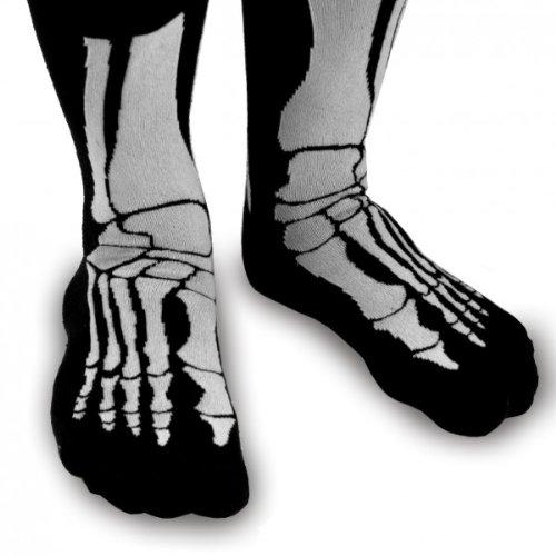Witzige Socken mit Aufdruck - Skelett Socken