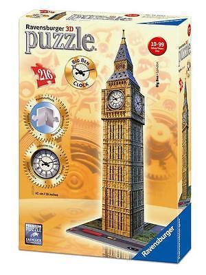 Ravensburger 12586 - Big Ben mit echter Uhr, 3D Puzzle,