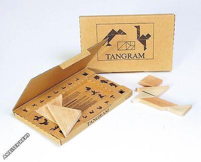 TANGRAM aus Holz Montessori geeignet Formenspiel Legespiel °°NEU°°