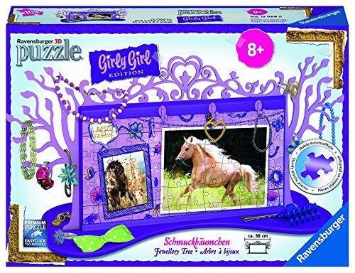 Ravensburger 12068 - 3D Puzzle Girly Girl Edition Schmuckbäumchen Pferde
