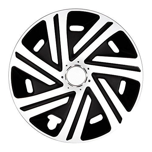 (Größe und Farbe wählbar) Radzierblenden 16 Zoll - CYRKON (Schwarz-Weiß) passend für fast alle Fahrzeugtypen (universell)!