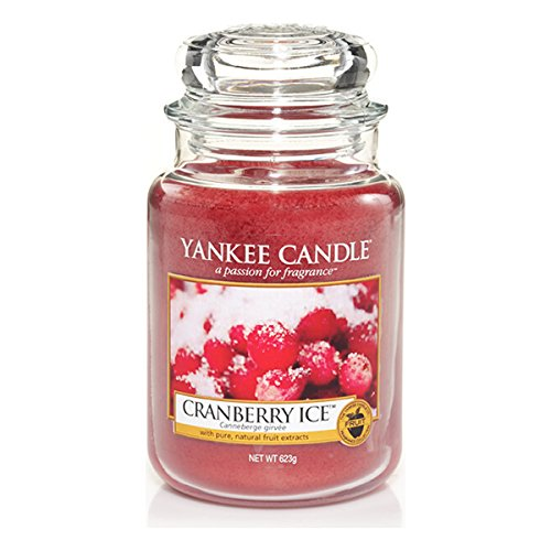 Yankee Candle 1244595E Cranberry Ice Duftkerze im Glas, rot, 9.8 x 9.8 x 17.5 cm