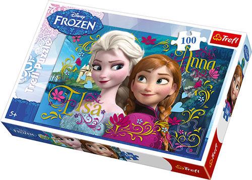Disney Frozen Anna und Elsa - Puzzle 100 Teile - Kinderpuzzle - Neu & OVP