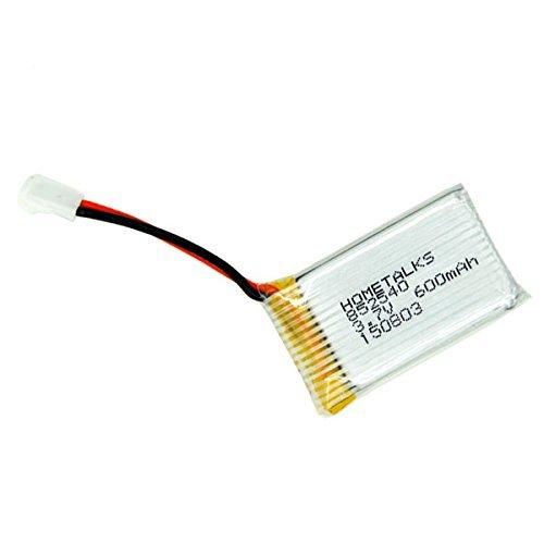 Hometalks® Syma X5C X5C-1 X5sw Quadcopter nachladbare Lipo Akku (3,7 V, 600mAh Lipo) und 4-in-1 Max 2.5a Stromeingang Schnellen Akku Ladegerät (1pcs) - 4pcs Batteries