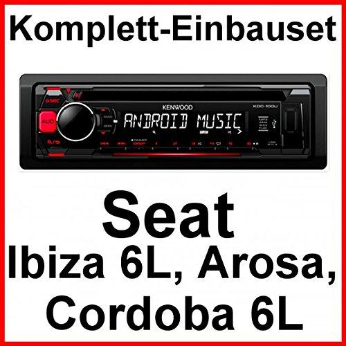 Komplett-Set Seat Ibiza 6L Arosa Cordoba Kenwood KDC-100UR Autoradio USB MP3 AUX