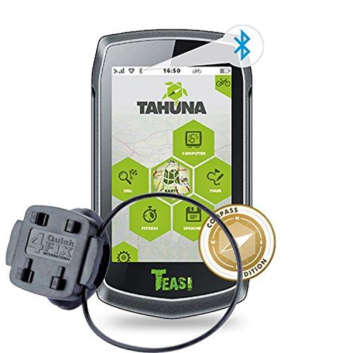 TEASI ONE 3 eXtend - Fahrrad- & Wandernavigation + Fahrradhalter Lenkermontage+ USB Netzteil 2A