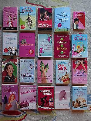 Paket 20 freche Bücher für Frauen Kinsella Mansell Von Wolff Gibson Kürthy Zabel