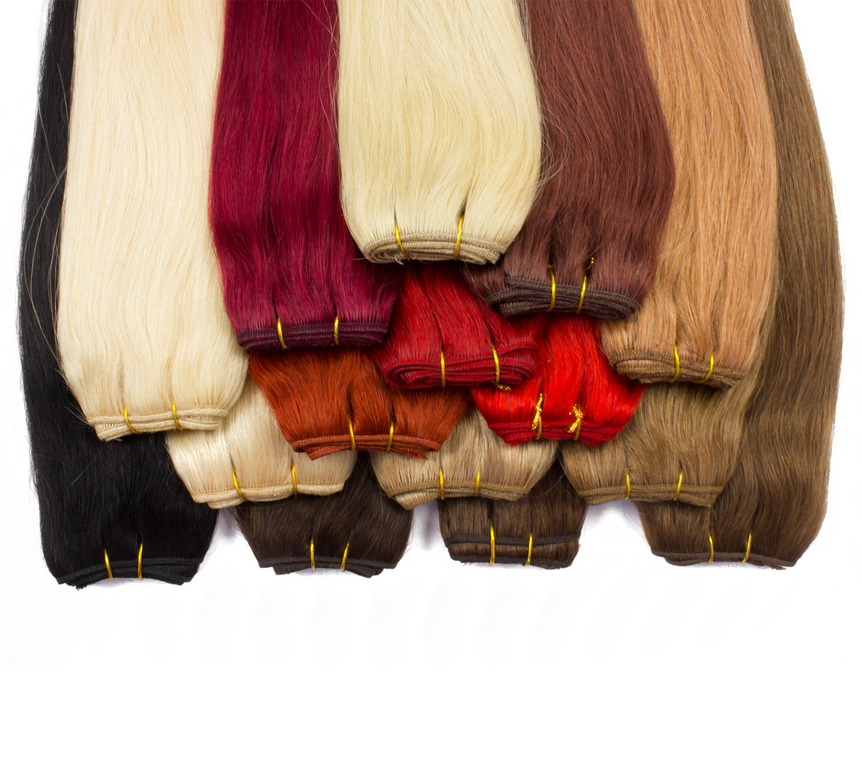 Echthaartresse - 100% indisches Remy Echthaar, Haarverlängerung Extensions glatt