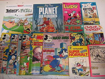 175 Bücher Hefte Comic Comics Asterix Micky Maus Lupo Clever & Smart u.a.