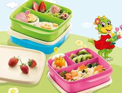 Tupperware 3X Lunchbox Grün, Blau, Rosa Trennwand 550 ml Lolly Tup Schule Kindi