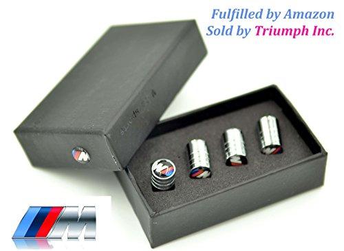 Triumph®(Versand durch Amazon) BMW M3 Rad-Reifen-Gummireifen-Metall-Legierung Air Stem Ventilkappe Geschenkkastensatz für alle BMW-Modell E90 E91 E92 E93 E70 E71 E60 E61 E63 E64 F10 F11 F01