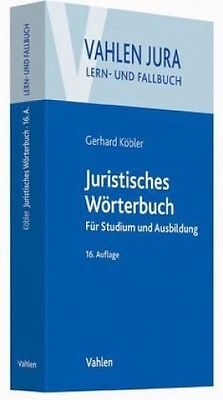 Juristisches Wörterbuch von Gerhard Köbler (Buch) NEU