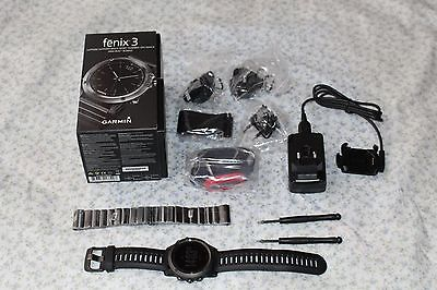 Garmin Fenix 3 HR Sapphire Edition Perfomer Bundle GPS Bluetooth Uhr Full w.Neu