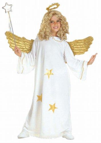 Widmann 38186 - Kinderkostüm Engel, Kleid und Heiligenschein, Größe128