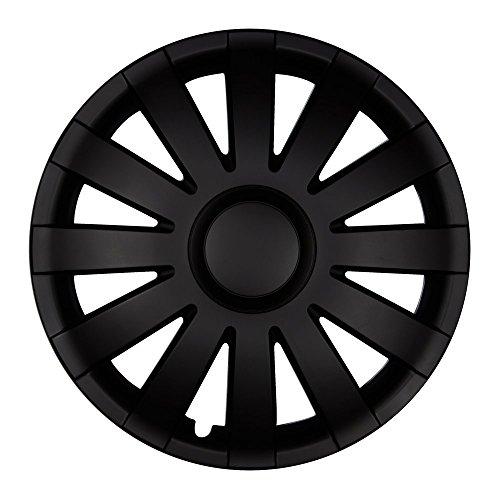 (Farbe und Größe wählbar!) 15 Zoll Radkappen AGAT (Schwarz matt) passend für fast alle Fahrzeugtypen (universell) - vom Radkappen König