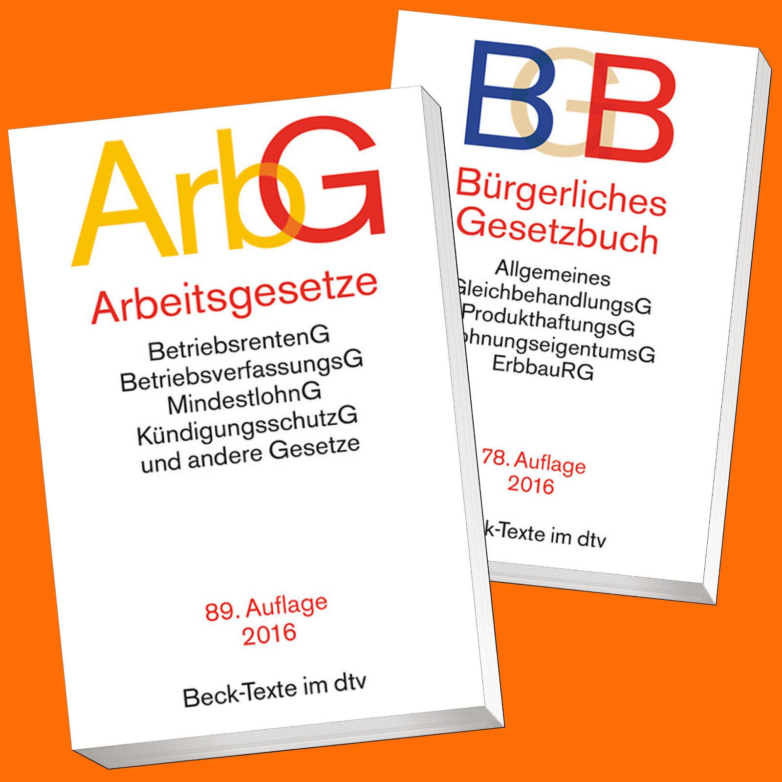 SET: ArbG 89. AUFLAGE 2016 + BGB 78. AUFLAGE 2016 | sofort lieferbar !!!