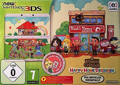 New Nintendo 3DS + Animal Crossing Happy Home Designer !!NEU + OVP!!