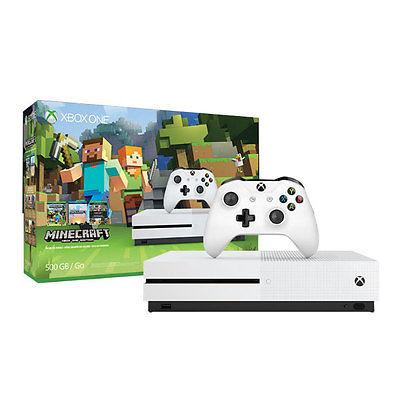 Microsoft Xbox One S 500GB inkl. Minecraft Konsole HDR 4K UltraHD