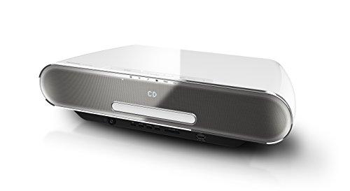 Panasonic SC-ALL7CDEGW Stilvolles HiFi System (Multiroom, WiFi, Bluetooth, Musik-Streaming, CD Player, Radio UKW/DAB+, USB, 4 GB Speicher) weiß