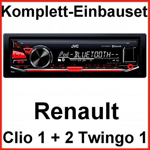 Komplett-Set Renault Clio 1 2 Twingo 1 JVC KD-X330BT Autoradio USB Bluetooth MP3