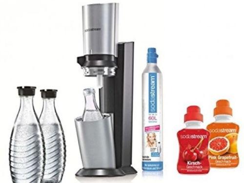 SodaStream Crystal Super-Spar-Pack Trinkwassersprudler 3x Glaskaraffe 2x Sirup