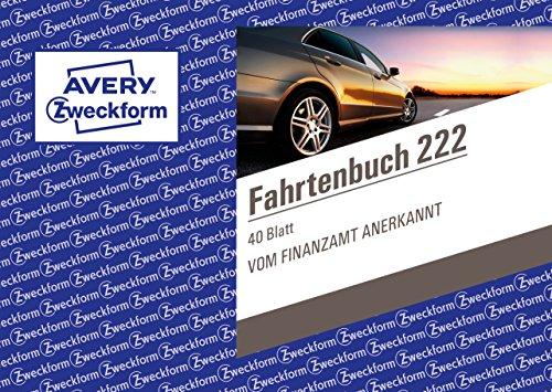Avery Zweckform 222 Fahrtenbuch für PKW (A6 quer, 40 Blatt) weiß