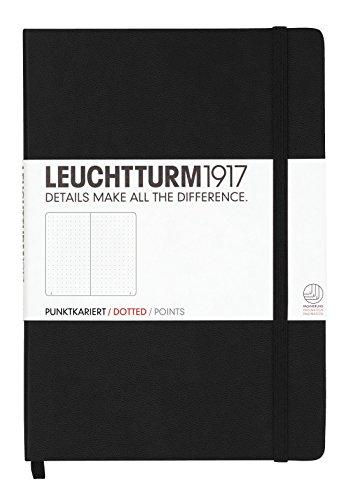 Leuchtturm1917 329398 Notizbuch (A5, Dotted, 80g/qm) 249 Seiten schwarz
