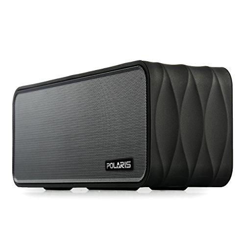 Polaris V8 - 9W (4.5W X 2) Tragbare Bluetooth-Lautsprecher mit FM-Radio, MP3-Micro-SD-Player, NFC, LED-Anzeige und Removable 18650 Li-Ionen-Akku (schwarz)