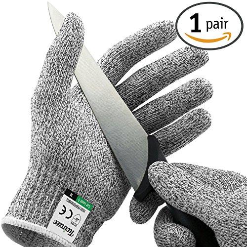 Twinzee® Schnittschutzhandschuh - Extra Starker Level 5 Schutz, Lebensmittelecht, EN 388 Zertifiziert, 1 Paar (Small)