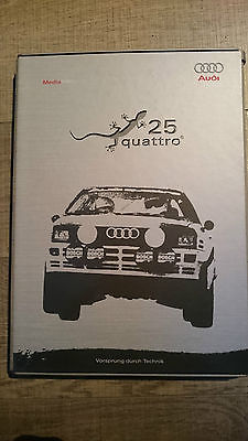 Audi 25 Jahre quattro Pressebox Pressinformation 2005 CD Buch