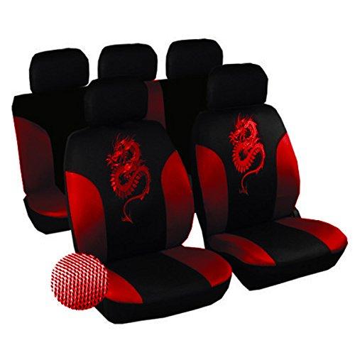 Universal Schonbezüge Auto Sitzbezüge Schon Sitz Bezug Drachen schwarz/Rot As7213