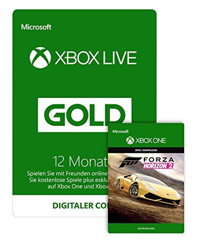 Xbox Live - Gold-Mitgliedschaft 12 Monate [Xbox Live Online Code] + GRATIS Forza Horizon 2