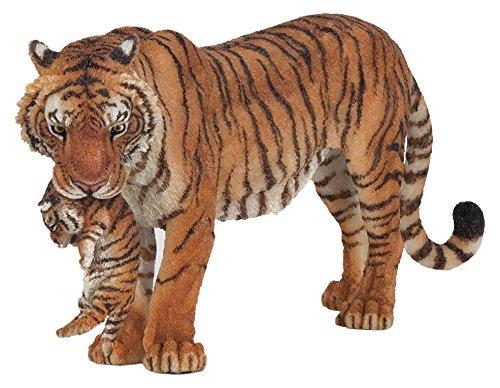 Papo 50118 - Tigerin mit Jungtier, Spielfigur