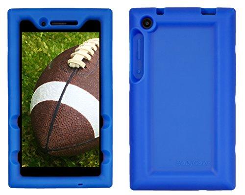 Bobj Silikon-Hulle Heavy Duty Tasche für Lenovo Tab3 7-inch Models TB3-730F, TB3-730X (Does not fit Lenovo Tab 3 7 Essential) - BobjGear Schutzhulle (Blau)