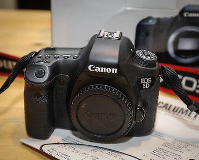 Canon EOS 6D 20,2 MP Digitalkamera - Schwarz (Nur Gehäuse)