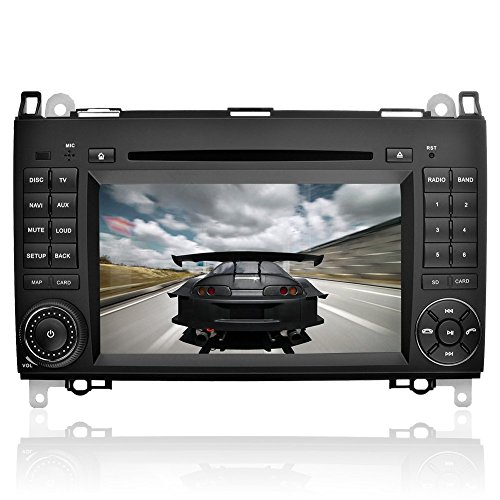 YINUO 7 Zoll 2 Din Touchscreen In Dash Autoradio Moniceiver DVD Player GPS Navigation für Mercedes-Benz A-class W169 (2004-2012)/ Mercedes-Benz B-class W245 (2004-2012) / Mercedes-Benz Viano/Vito(W639) (2006-2014)/ Mercedes-Benz Sprinter W906/W209/W311/W3