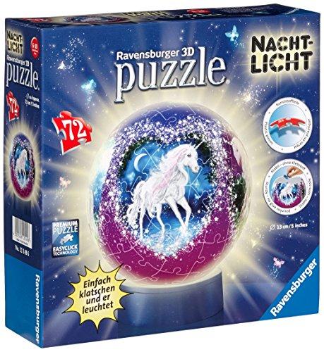 Ravensburger 12149 - Einhörner - Nachtlicht puzzleball, 72 Teile