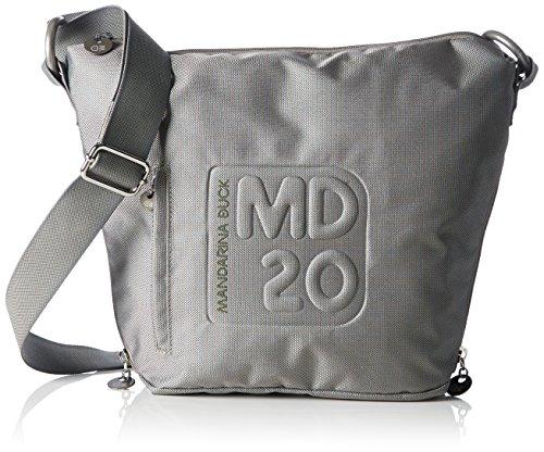 Mandarina Duck Damen MD20 Tracolla Umhängetaschen, Grau (Grey 007), 27x8x28 cm